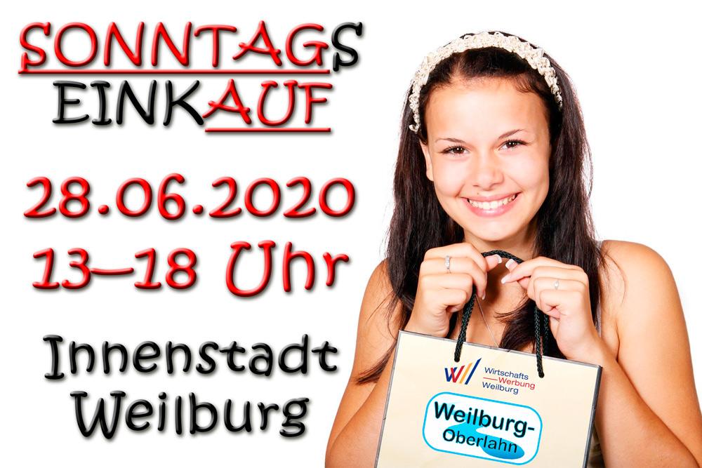 Am Sonntag einkaufen - 28.06.2020 - Weilburger Innenstadt - ABGESAGT !!!