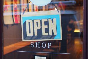 Geschäft Open Schild